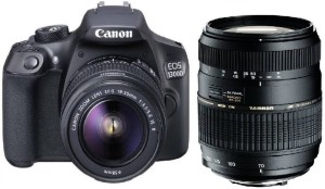 Canon 1300D DSLR Camera With Tamron AF 70 - 300 mm F/4-5.6 Di LD Macro for Canon Digital SLR Lens