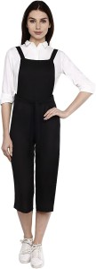 Today Fashion Women's Black Dungaree