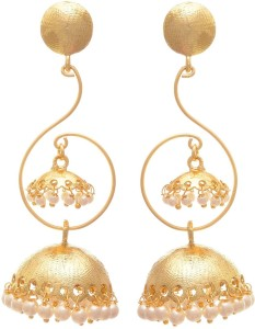 Jfl Jewellery For Less Traditional Ethnic Fusion One Gram Gold Plated Pearls Designer