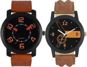 LOREM VL20-LR01 Stylish Designer Boys Leather Combo Analog Watch  - For Men