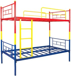 Hometown Metal Bunk Bed Finish Color Red Yellow And Blue Best Price