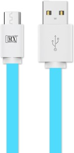 MX Micro Usb Flat Cable High Speed Tangle free for Mobile Data Sync Fast Charging 1 Mtr -Blue USB Cable