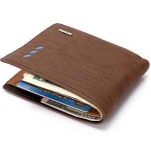 Bogesi Men Brown Genuine Leather Wallet