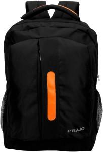 PRAJO Black n Orange 20 L Laptop Backpack