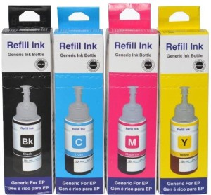 Print Cartridge Ink Set For Epson L360 Multi Color Ink