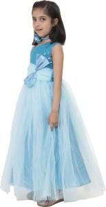 55e19ee16 Samsara Couture Girl s Maxi Full Length Party Dress Blue Sleeveless ...