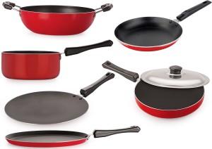 NIRLON Aluminium Cookware essentials Pan 27.5,28.5,24,22.5,18.5,20 cm diameter