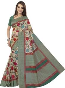 Sunaina Printed Daily Wear Cotton Linen Blend Saree