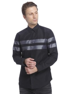 305fd85846 Jack Jones Men s Striped Casual Black Grey Shirt Best Price in India ...