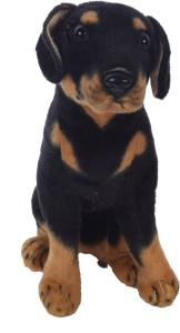 Aarushi Soft toy black-brown dog  - 30 cm