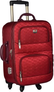 TREKKER TTB-PEARL204-RED Expandable  Cabin Luggage - 20 inch