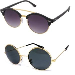 e938d6c49b Aventus COMS30S67 Round Clubmaster Sunglasses Black Best Price in ...