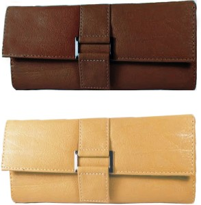 236167da15f4 Lady Bar Girls Brown Pink Canvas Wallet 6 Card Slots Best Price in ...