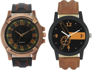 LOREM VL23-LR01 Stylish Designer Boys Leather Combo Analog Watch  - For Men