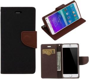 super popular e51b1 5e2ab YoColours Flip Cover for SAMSUNG Galaxy J7 PrimeBlack Brown, Flip Cover