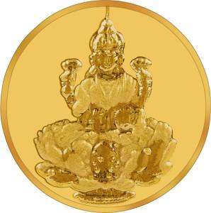 RSBL BIS Hallmarked Goddess Lakshmi Precious 24 (995) K 1 g Yellow Gold Coin