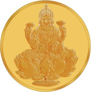 RSBL BIS Hallmarked Goddess Lakshmi Precious 24 (995) K 2 g Yellow Gold Coin