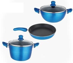 Nirlon Pots Pans Set Cookware Set Ptfe Non Stick 3 Piece Best Price