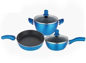 Nirlon Pots Pans Combo Set Cookware Set Ptfe Non Stick 3 Piece Best