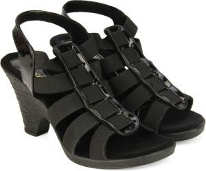 2d50c0eb5 Catwalk Women BLACK Heels Best Price in India