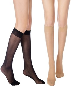 b832fdf11 Cotson Women s Solid Knee Length Socks Pack of 2 Best Price in India ...