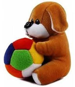 ManoJ Enterprises Fashionble Gift Soft Stuff Dog Face Pen Holder Brown Color 8 Inch  - 15 cm