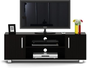 52ad12585 Spacewood Engineered Wood TV Entertainment Unit Finish Color Natural Wenge  Best Price in India