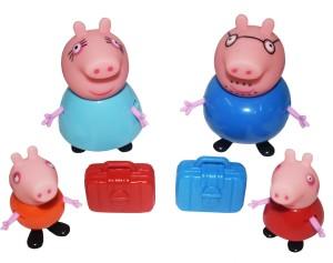 Kiditos Peppa Pig George Daddy Mummy Family Figure Set Multicolor ... 3fb5461ea289