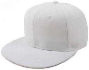 aaf17a37f Saifpro Plain White HipHop Cap