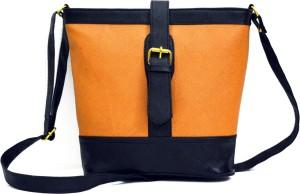 AGINOS Women Beige PU Sling Bag