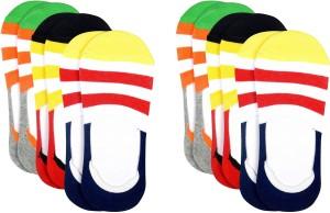 Color Fevrr Men & Women Striped No Show Socks