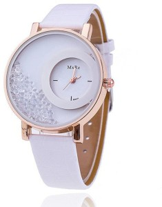 Mxre EDEAL Stylist Diamond Analogue White Color Women's Watch - EDWW0038 Analog Watch  - For Girls