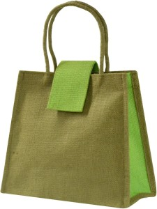 ce3aff47d Ashvah Olive Green Jute Lunch Bag Green 4 inch Best Price in India ...