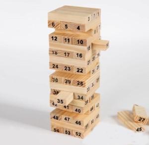 NEERAK Creatives Jenga wood blocks Family pack fun game