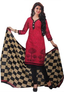 b9722a4ca Fashion Valley Crepe Printed Salwar Suit Dupatta Material Un ...