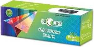 Bio Life 88A / CC388A Compatible Toner Cartridge for HP Printer LaserJet P1005, P1006, P1007, P1008, Pro P1106, P1108, M1136 MFP, M1213nf MF, m126nw Single Color Toner