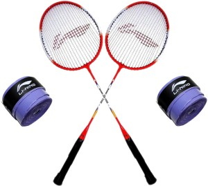 Li-Ning XP Smash 709 2PC + 2 Pc GP 20 Grip Combo S2 Strung