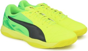 b9cc2614351 Puma Veloz Indoor III Indoor Shoes Yellow Best Price in India