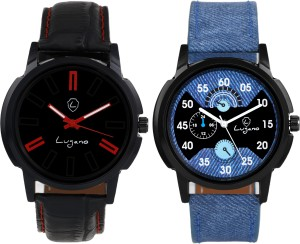 Lugano DE1069 Black Authentic Combo Watch Analog Watch  - For Boys
