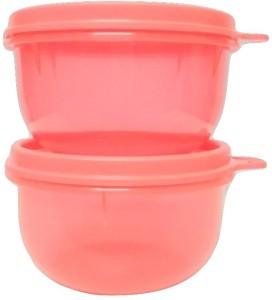 Tupperware Tropical Twins Bowl set Peach colour Plastic Bowl Set