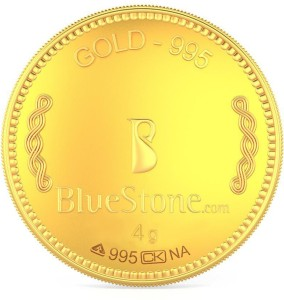 BlueStone 24 (995) K 4 g Yellow Gold Coin