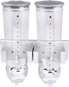 Brecken Paul Double Canister Cereal Dispenser  - 500 ml Plastic Food Storage