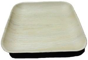 Ezee Eco Friendly Areca Leaf Square Plate 10
