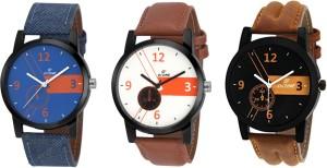 Dezine DZ-3CMB-06 Combo of 3 analog Analog Watch  - For Men