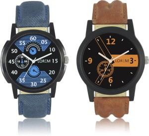 LOREM LR0102 Stylish Attractive Chronograph Pattern Combo Boys Analog Watch  - For Men