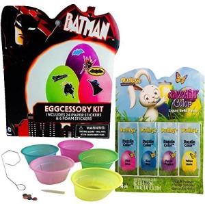 Paper Magic Batman Easter Egg Decorating Kit With Coloring Cups And ...