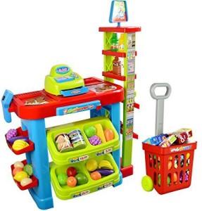 Powertrc Fun Super Market Pretend Play Toy Market Play Set With Toy