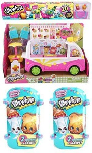 Shopkins Season 3 Gift Set Includes Ice Cream Truck Mega Pack Two