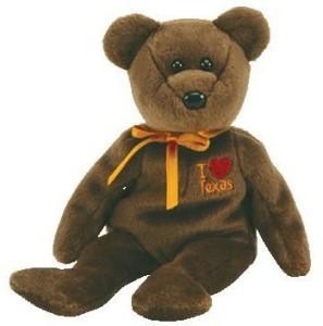 Ty Beanie Baby - Texas The Bear (I Love Texas - Show Exclusive)  - 2.5 inch