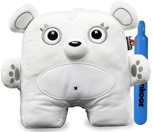 c648a9661af The Bridge Direct Inkoos Mini Plush Bear With Marker 2 2 inch White ...